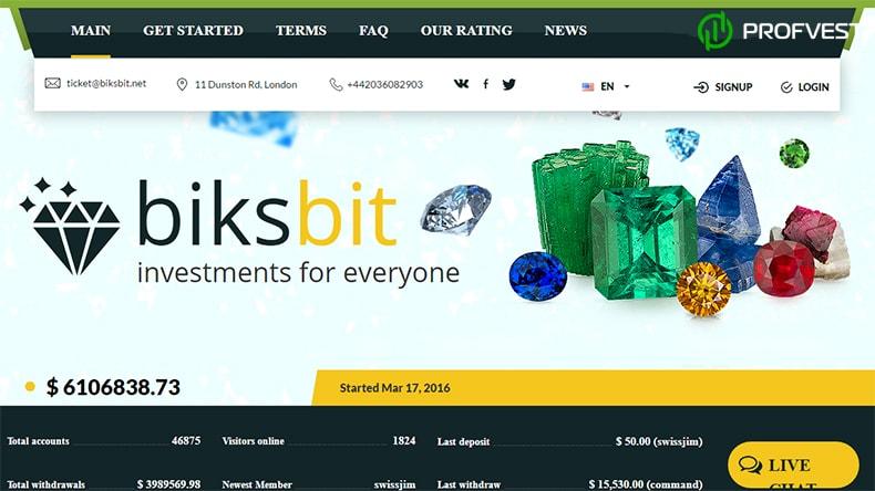 Biksbit обзор и отзывы вклад 400$