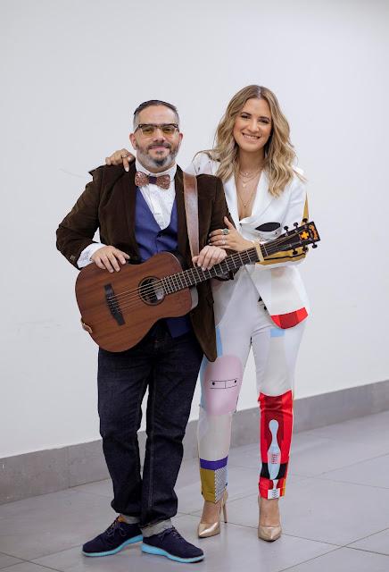 Nathalie Hazim y Pavel Núñez