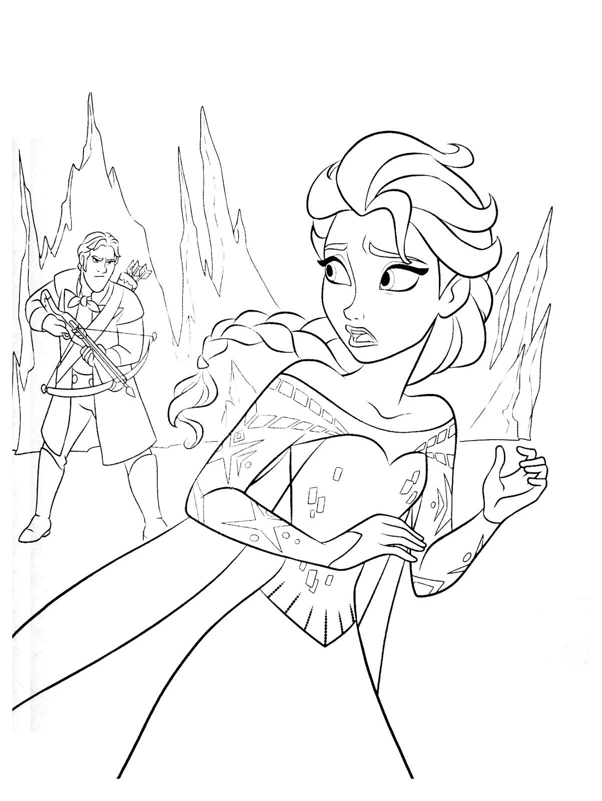 Tranh tô màu Elsa 04
