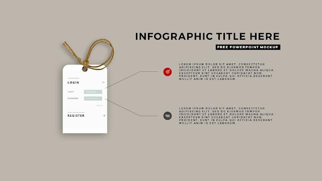 Free PowerPoint Template with Realistic Label Tag Mockups and Infographics Slide 5