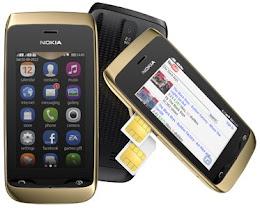 harga handphone nokia asha dual sim murah, spesifikasi lengkap nokia asha touchscreen terjangkau, hp asha terbaru gambar dan review