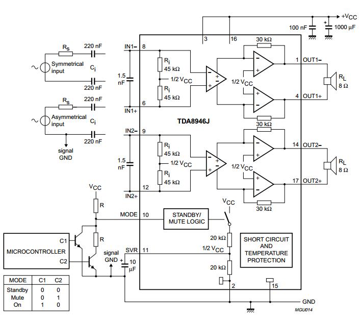 Tda7297 Bridge Amplifier Circuit Diagram - Circuit Boards