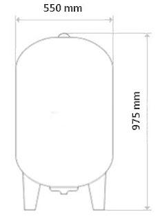 Drawing Pressure Tank Aquasystem VAV 150