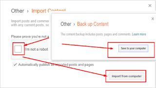 Cara Backup dan Restore Konten Milik Kita Di Blogger Dengan Mudah