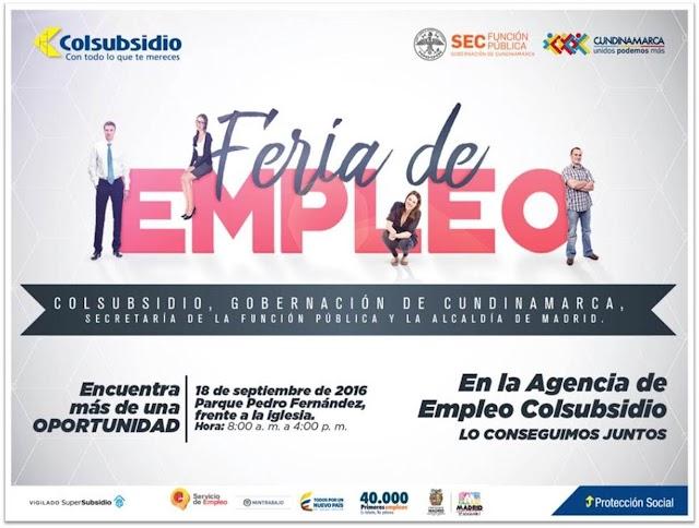 Feria de la empleabilidad hoy en Madrid, Cundinamarca