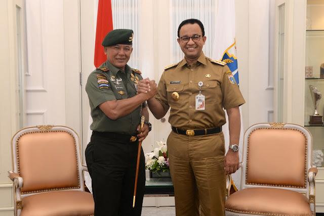 Kunjungi Anies, Pangkostrad Dukung Kebijakan Gubernur DKI Jakarta