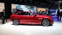 Debut at North America AWD 2017 Jaguar XE side view