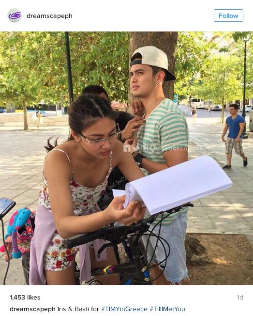 James Reid and Nadine Lustre shooting Till I Met You in Greece
