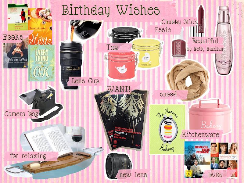Birthday Wishlist   GEFUEHLSFREAK Lifestyle & Motherhood