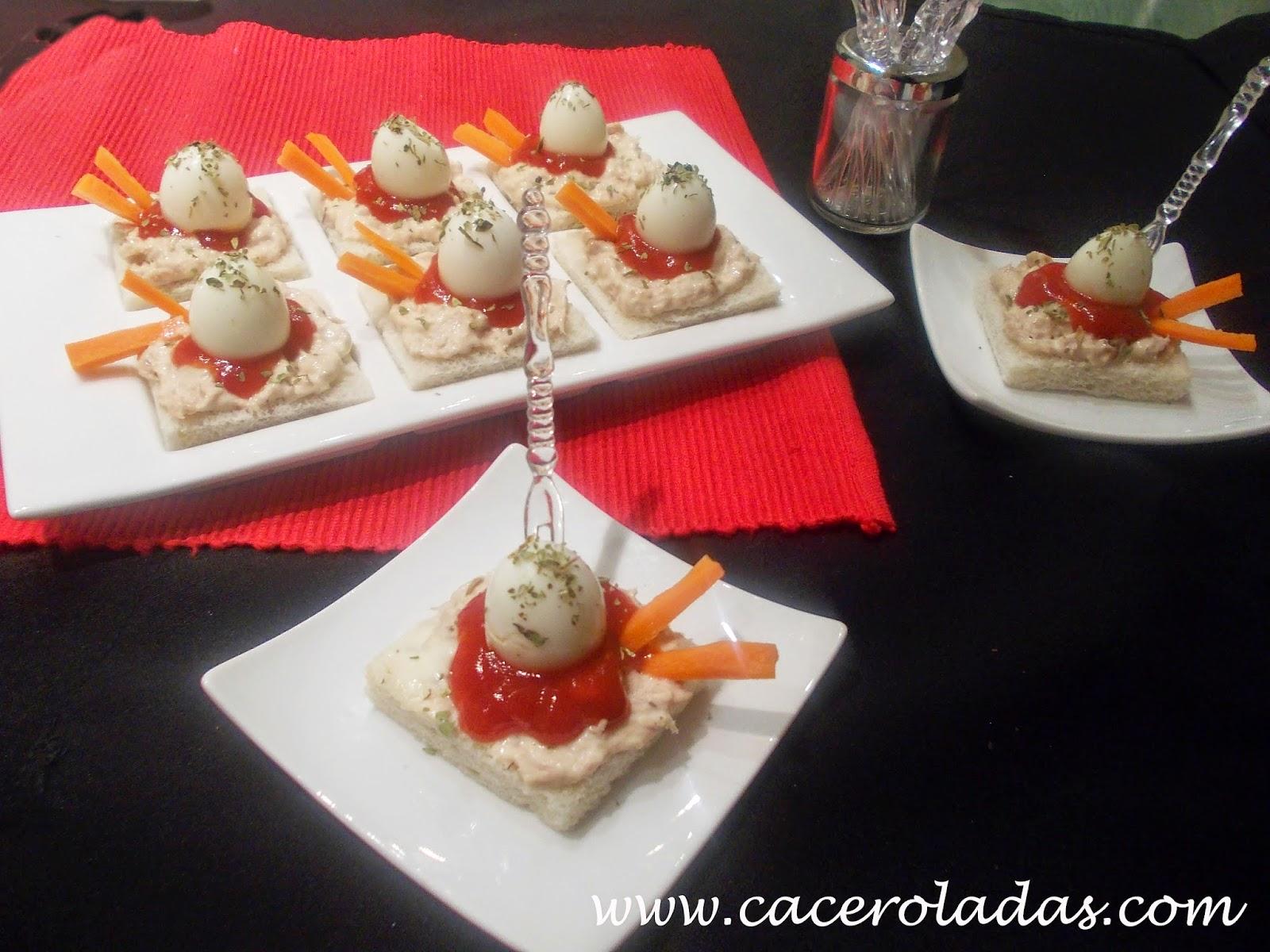 Canapés Sencillos Con Huevos De Codorniz Caceroladas