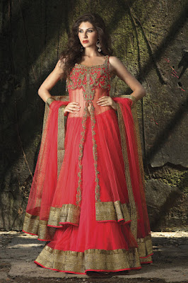 Red color is symbol of love and so wedding occasion needs lovely dress like this