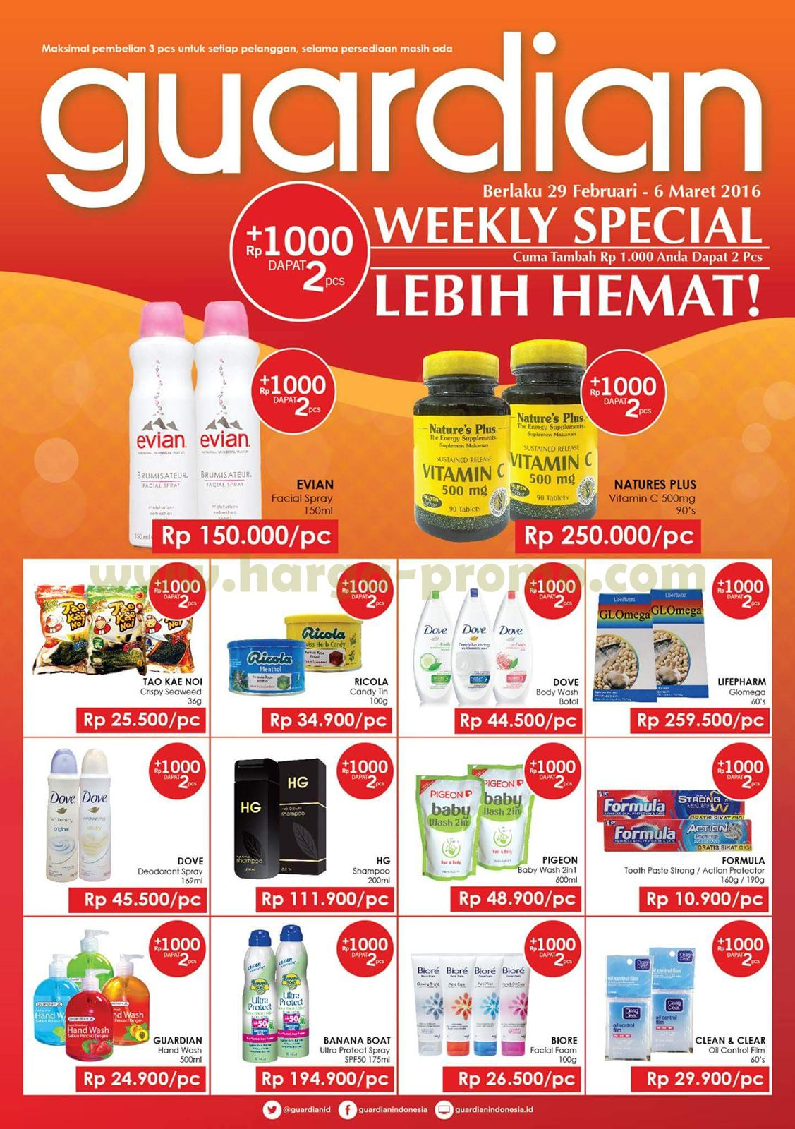 Promo Guardian Periode 29 Feb 6 Mar 2016