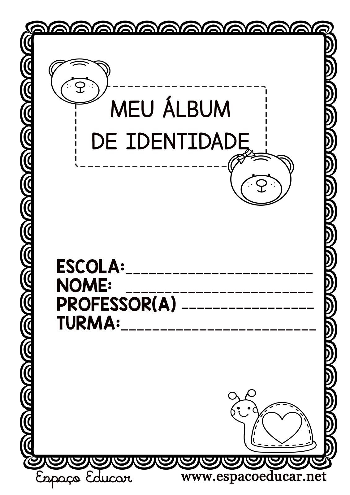 Projeto Identidade Meu Album De Identidade Para Educacao