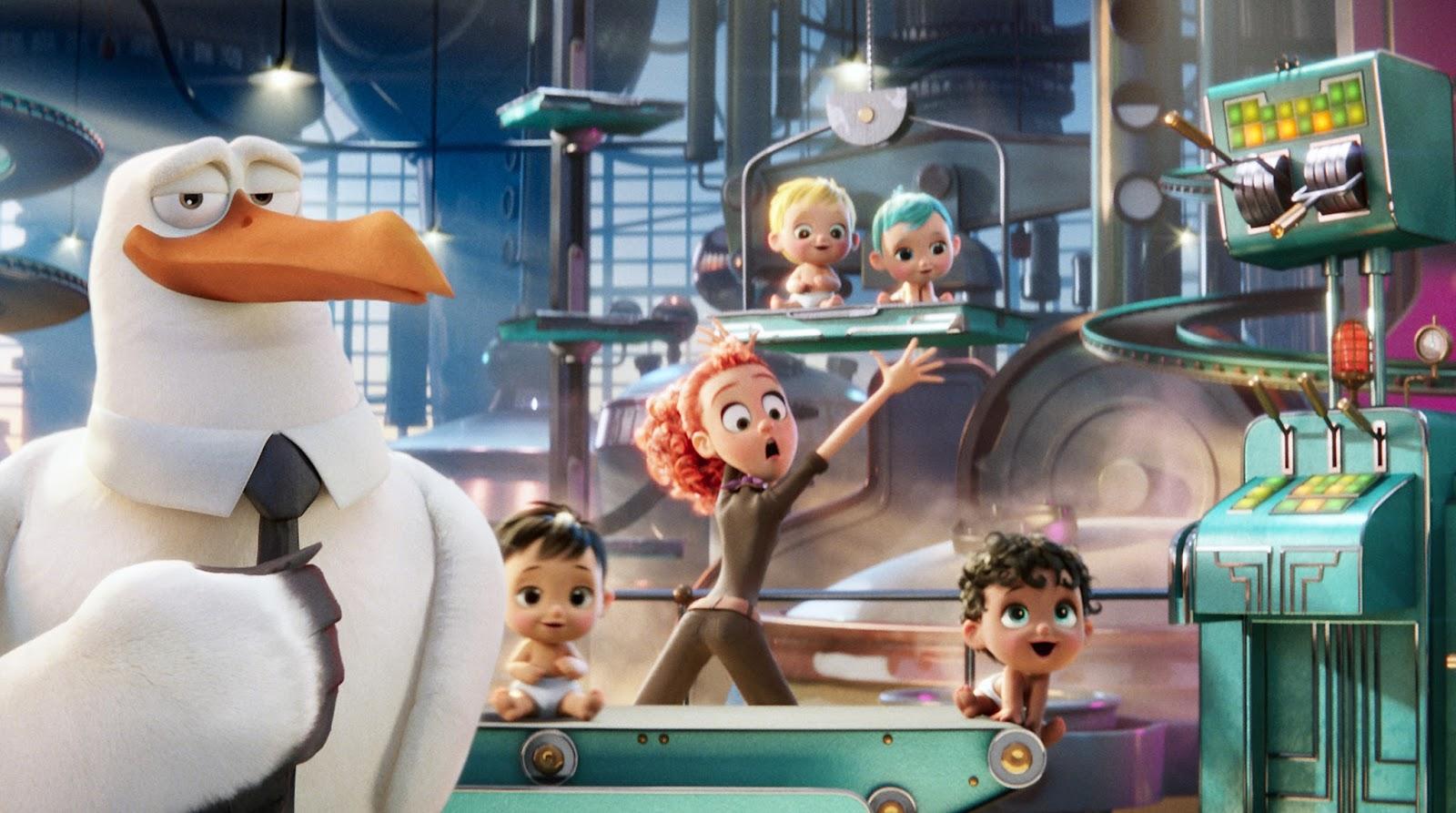 """Terceiro trailer da animação """"Cegonhas"""" revela a origem dos bebês"""