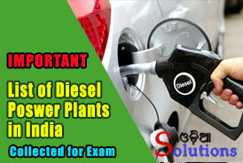 List of Diesel power plants in India