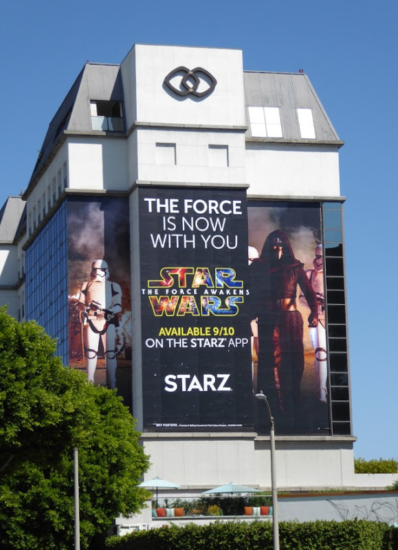 Giant Star Wars Force Awakens Starz billboard