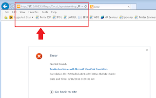 Site Permission And Site Setting Error Not Found In SharePoint 2010