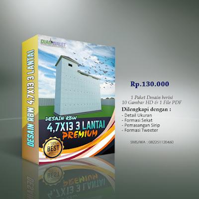 Desain Bangunan Walet 4,7x13 3 Lantai Premium