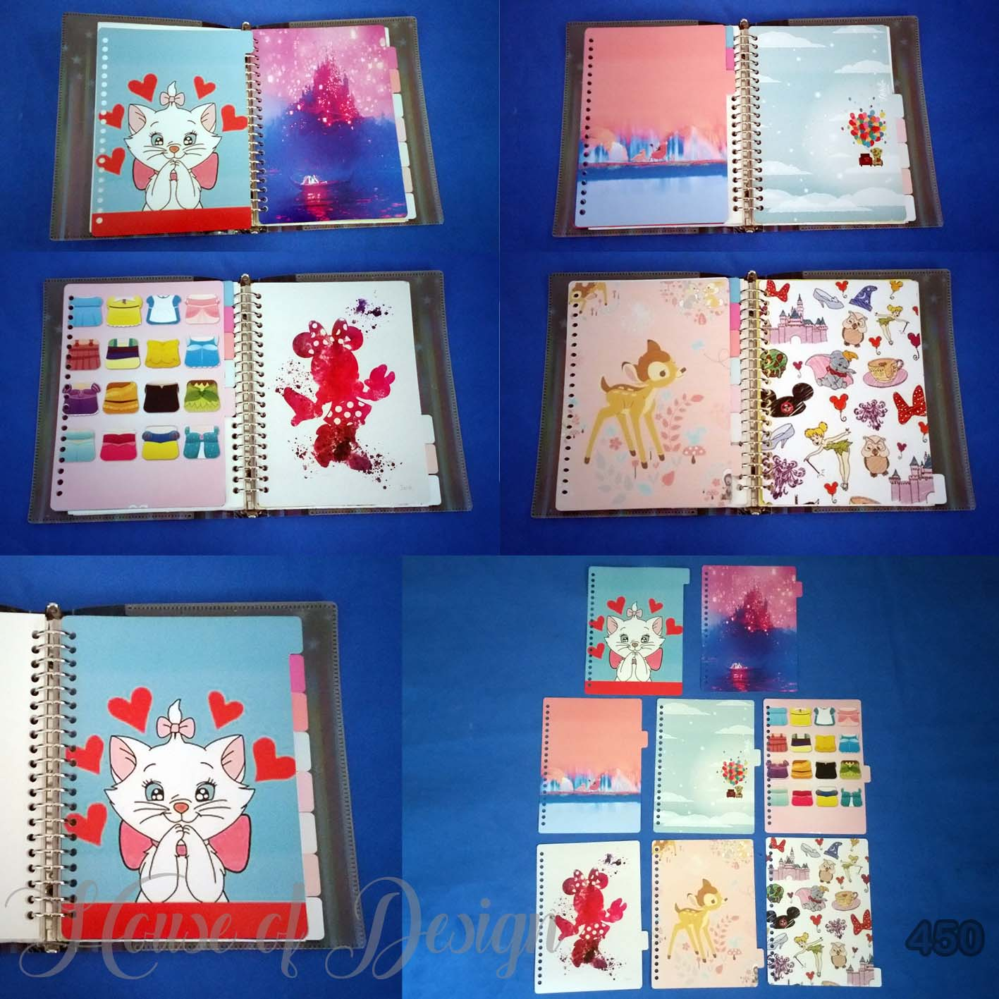PEMBATAS SAMPING BINDER 20 RING UKURAN A5 CAT LOVER CUSTOM