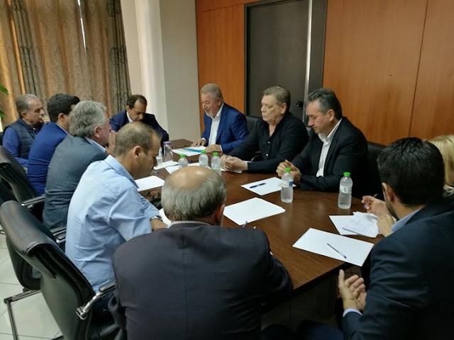 Επίσκεψη του Υπουργού Μεταφορών και Υποδομών κ. Χρήστου Σπίρτζη στο Δημαρχιακό Μέγαρο Ηγουμενίτσας