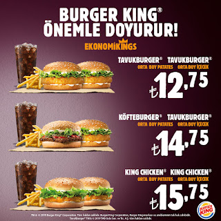 burger king menü kampanya ve fırsatlar