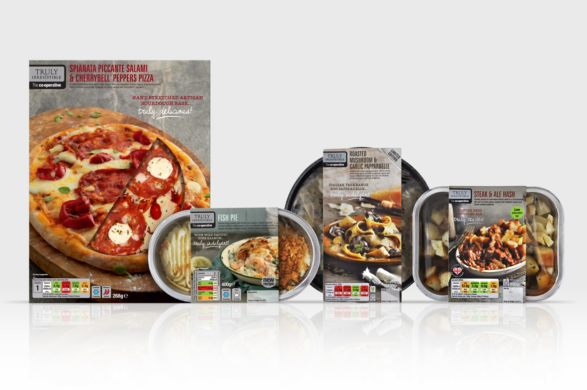 The Co Operative Truly Irresistible Range On Packaging Of