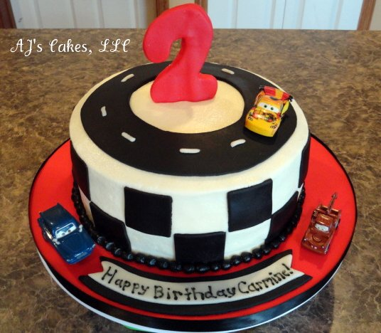 Aj S Cakes Race Car Cake