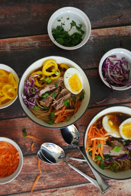Easy Pork Ramen made with a slow cooker!