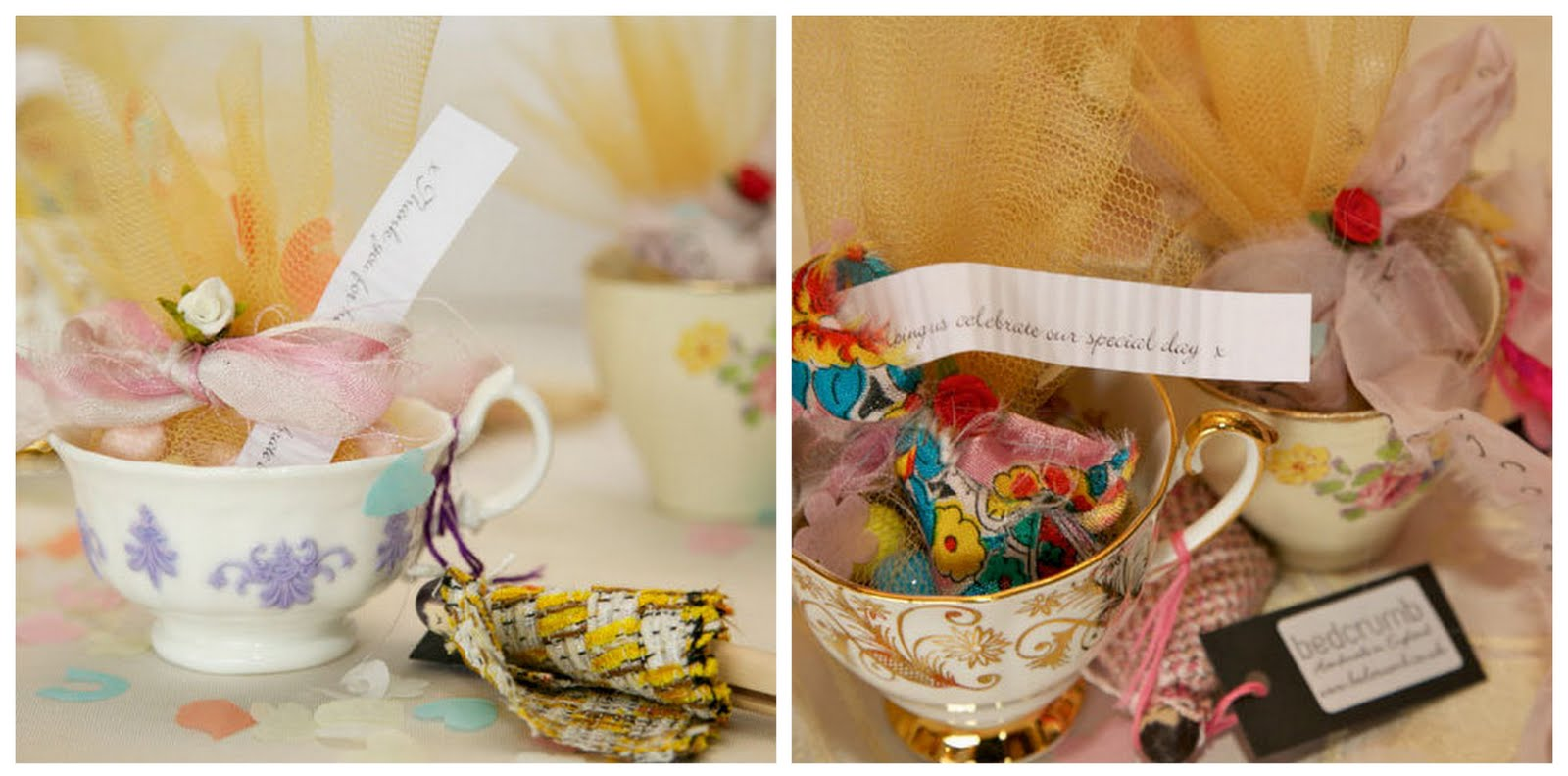 Vintage Teacup Wedding Favours