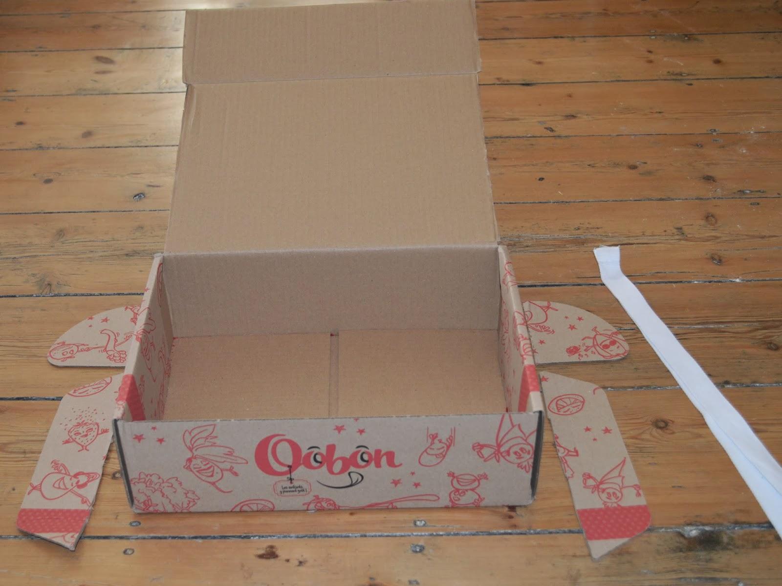 gabulle in wonderland recyclage de la box oobon 1 le carton. Black Bedroom Furniture Sets. Home Design Ideas