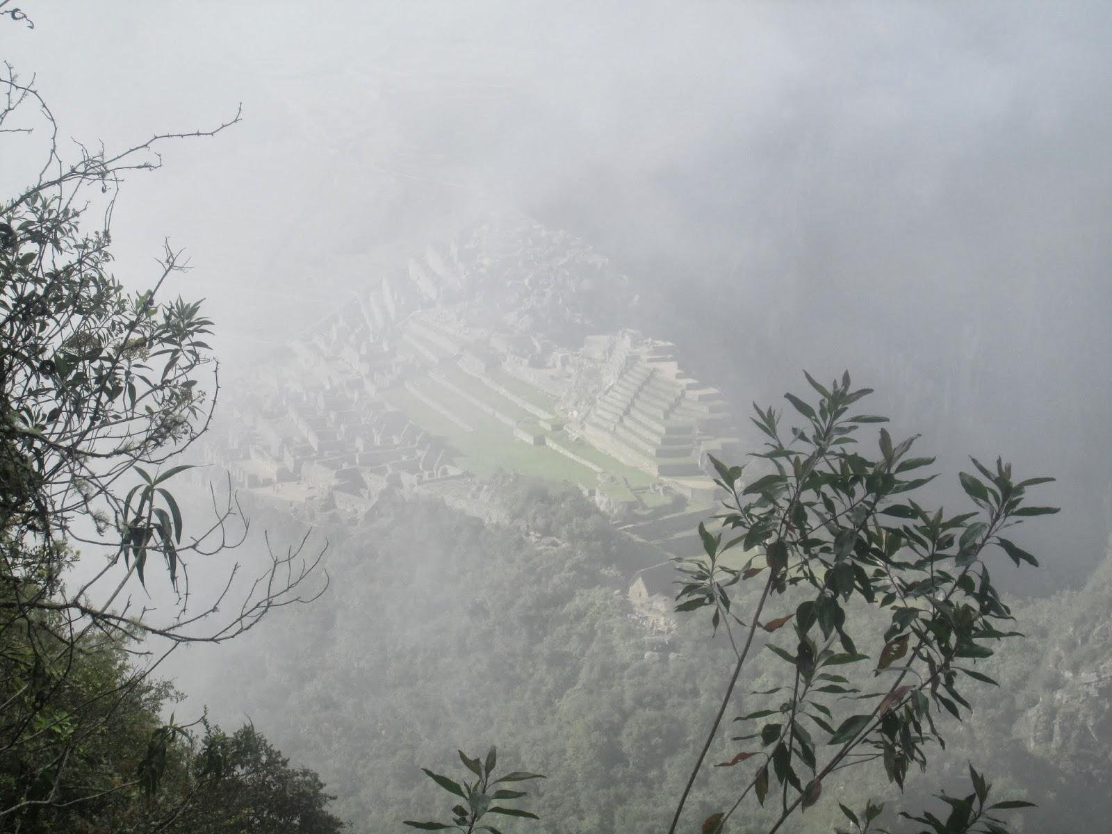 Niebla en el Machi Picchu