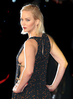 Jennifer Lawrence reveals side boob at The Hunger Games: Mockingjay Part 2 London Premiere