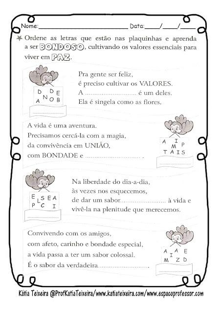 bondade-page-003 Atividade para trabalhar Valores: Bondade
