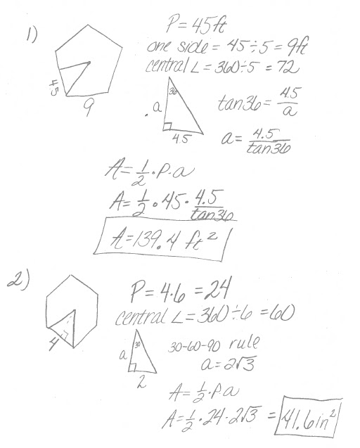 Math Classes Spring 2012: Geometry Homework 11.3 and 11.4 ...