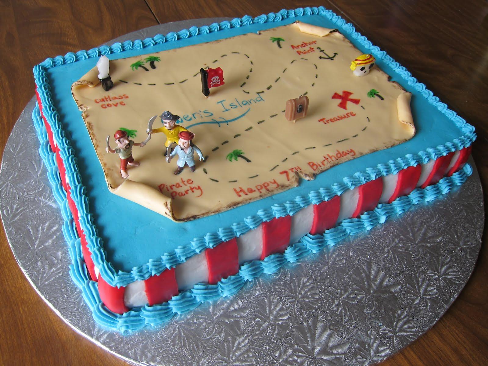 Pirate Map Cake