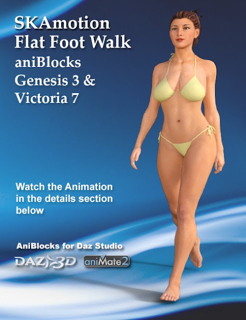 Genesis 3 Female Victoria 7 Flat Foot Walk aniBlock