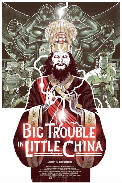 Little China Movie Poster Screen Print by Sam Bosma x Mondo