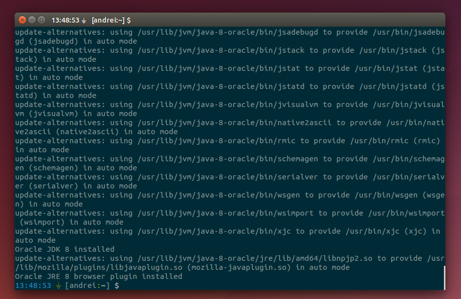 Install Oracle Java 8 In Ubuntu Or Linux Mint Via PPA