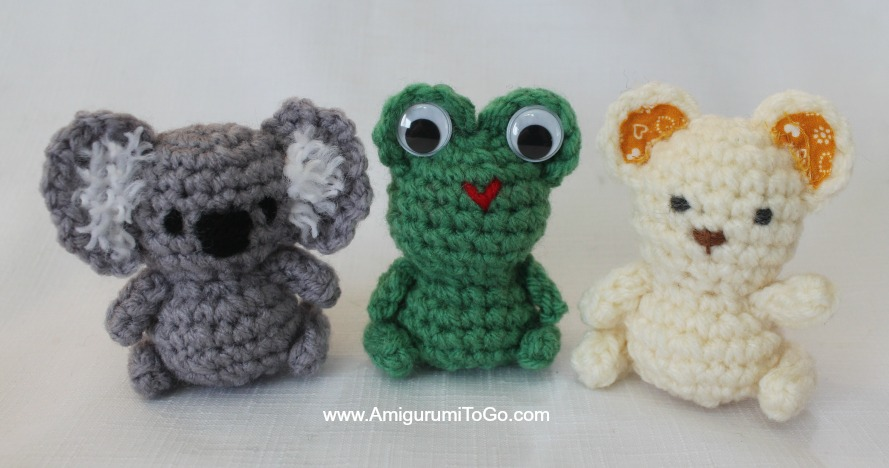 Amigurumi Tiny Patterns : Tiny Teddy & Friends With A Tree To Hide In ~ Amigurumi To Go