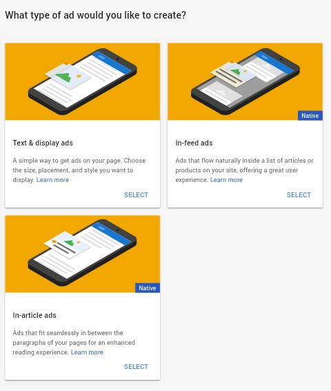 how to create link ads in adsense