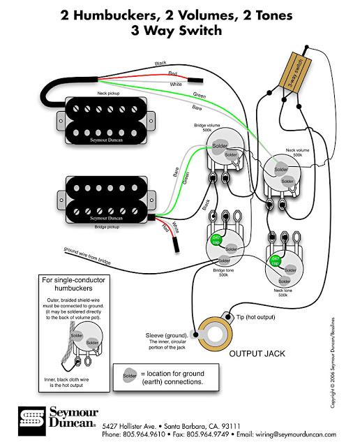 wiring 2 humbuckers les paul r 335 sg