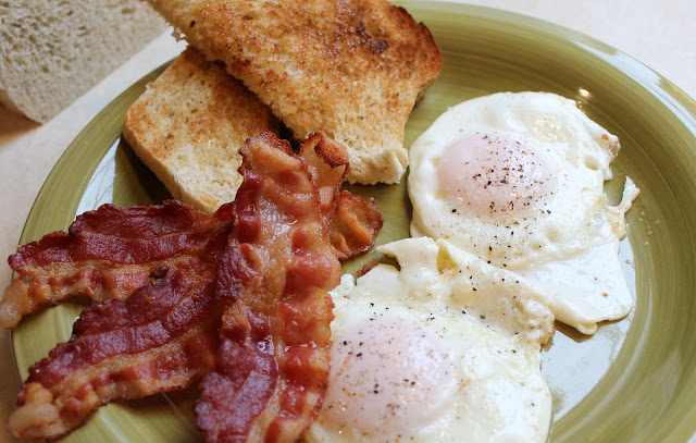 The best bacon and egg breakfast.