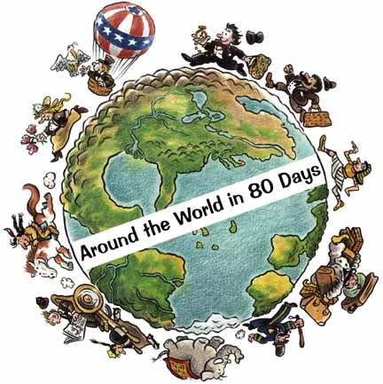 An analysis of around the world in eighty days a book by jules verne