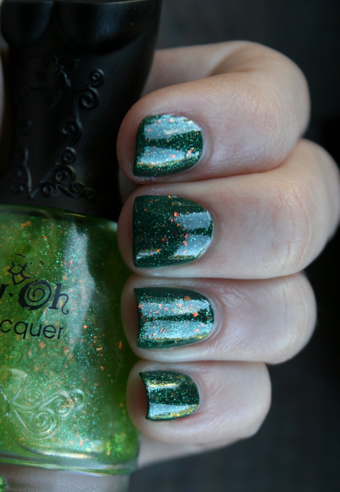 Butter London British Racing Green and Nfu Oh #57 Swatch
