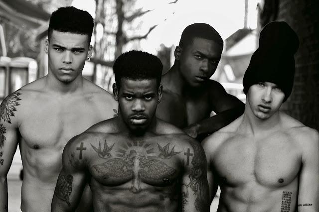 Nicquan Taylor |  Leonardo Taiwo | Omari Lewis Dixon |  Nahel Drici | shirtless