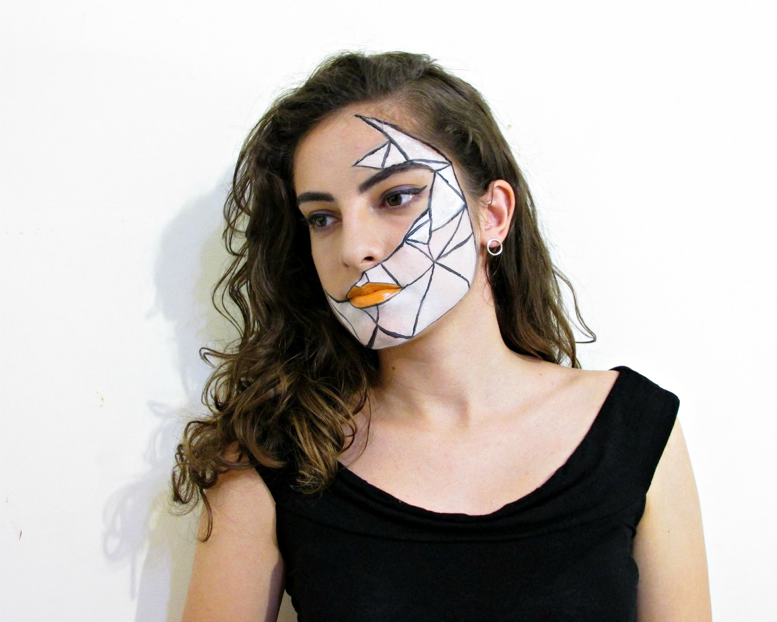 geometric Halloween makeup look 2016