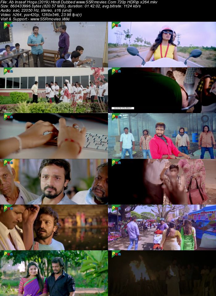 Ab Insaaf Hoga (2019) Hindi Dubbed 720p HDRip x264 800MB Movie Download