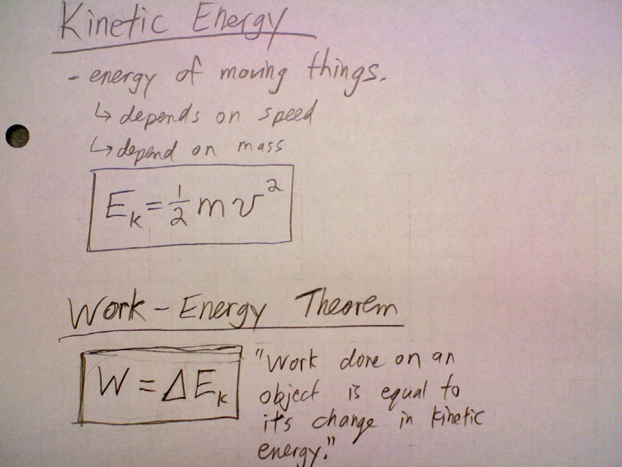 May 9 Class: Work and Kinetic Energy   Physics 11