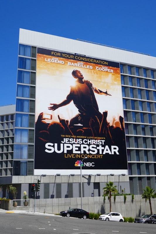 Giant Jesus Christ Superstar Emmy FYC billboard