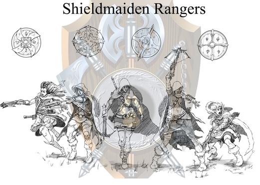 Shieldwolf Miniatures: Plastic Fantasy Shieldmaiden Ranger